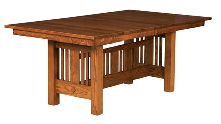 Amish Kingsbury Mission Trestle Dining Table