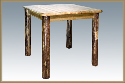 Glacier Country Counter Height Square 4 Post Dining Table