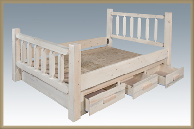 Homestead Bed with Storage