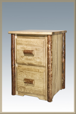 Glacier Country 2 Drawer Filing Cabinet