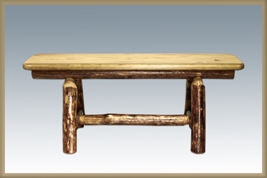 """Glacier Country 45"""" Plank Style Bench"""