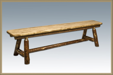"""Glacier Country 72"""" Plank Style Bench"""