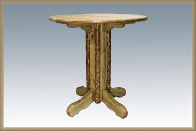 Glacier Country Center Pedestal Table