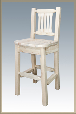 Homestead Bar Stool with Back