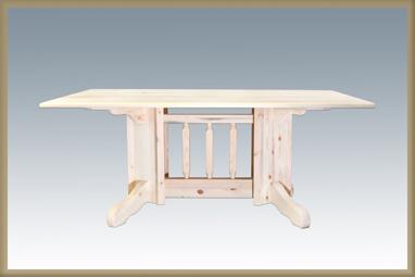 Homestead Double Pedestal Table