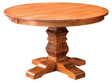Amish Bradbury Single Pedestal Dining Table