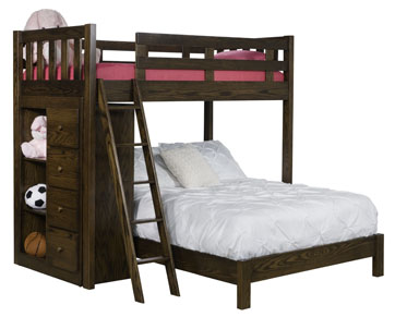 #1620 Sedona Bunk Bed with Bookcase