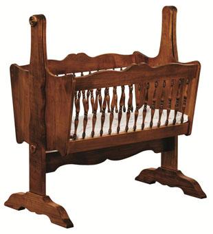 Amish Baby Cradle Solid Wood Baby Cradle Amish Furniture Factory