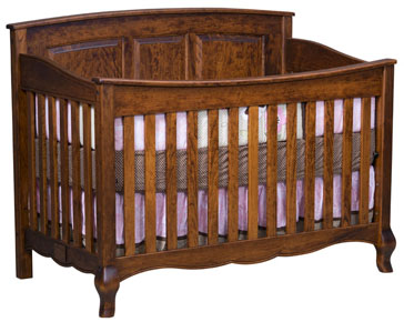 French Country Crib Slat Front