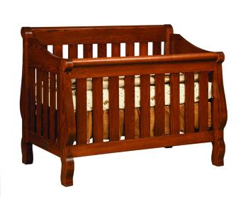 Hoosier Convertible Sleigh Crib
