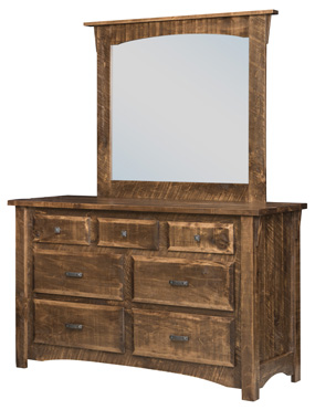 Rough Cut Maplewood 7-Drawer Dresser