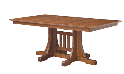 Ridgecrest mission dining table amish furniture factory for Ridgecrest storage units