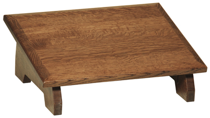 Slanted Wooden Footstool Under Desk Foot Rest