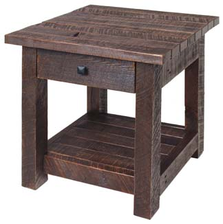 Amish Pallet End Table