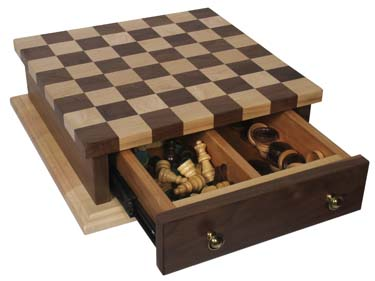 Checker Board  with Base & Drawer