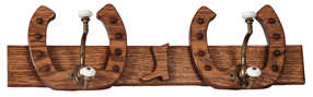 2 Hooks Horseshoe Coat Rack
