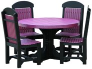 Poly Vinyl 4' Round Table Set 1