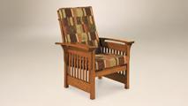 Bow Arm Slat Chair