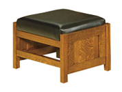 Bow Arm Panel Morris Foot Stool
