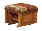 Bow Arm Panel Ottoman