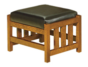 Bow Arm Slat Morris Foot Stool