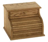 Roll Top Bread Box with Drawer