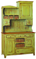 Lizzie's Hutch with Baskets
