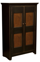 Vintage Jelly Cupboard with Tin Doors