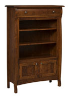 Castlebury Bookcase with Drawer