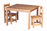 Kid's Rectangle Table & Small Square Chair Sets