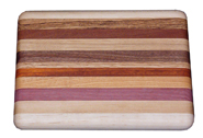 Small Exotic Mixed Wood Cutting Board
