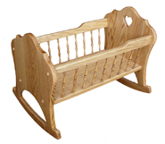 Tall Spindle Doll Cradle
