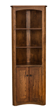 Mission Corner Bookcase with Doors