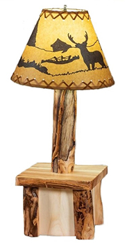 Fireside Rustic Cordless Table Lamp