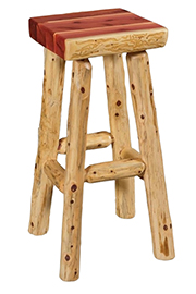 Fireside Rustic Square Bar Stool