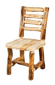 Fireside Rustic Ladder Back Chair