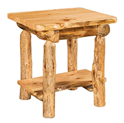 Fireside Rustic End Table with Drawer