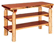 Fireside Rustic Flat Sofa Table with Shelves