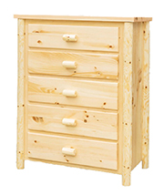 Fireside Rustic Econo Line 5 Drawer Chest