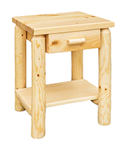 Fireside Rustic Econo Line End Table with Drawer