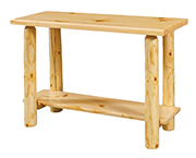 Fireside Rustic Econo Line Sofa Table with Drawer