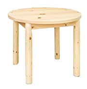 Fireside Rustic Econo Line Round Leg Table