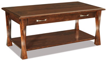 Lexington Arc  Open Coffee Table with Drawer