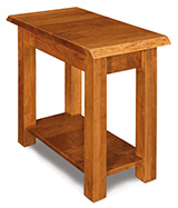 Timbra Open Chair Side End Table with Live Edge Top