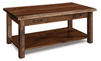 Timbra Open End Table with Live Edge Top