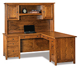 Centennial 8 Drawer L Desk with Hutch