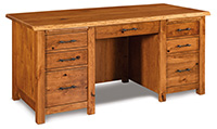 Timbra 7 Drawer Desk with Live Edge Top