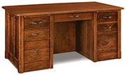Victorian 7 Drawer Desk