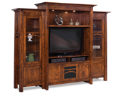 Artesa 3 Piece TV Wall Unit with Bookcases