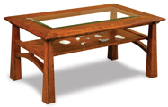 Artesa Glass Top Coffee Table with Shelf